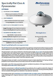 Spectrally Flat Class A Pyranometer